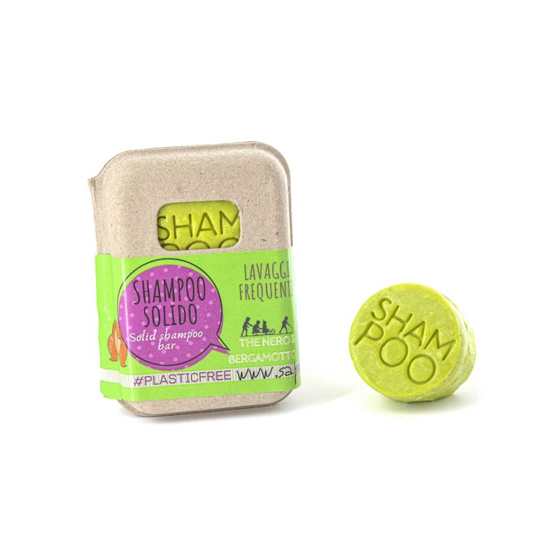 SOLID SHAMPOO WITH GREEN TEA AND BERGAMOT