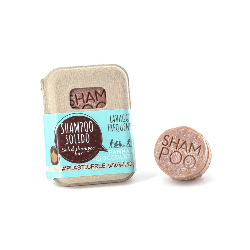 SOLID SHAMPOO WITH CREAM AND CHOCOLATE