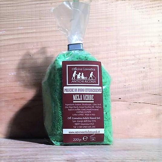 Polvere da bagno effervescente utile originale senza - Bagno verde mela ...