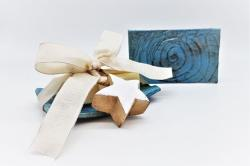 """RAKU"" CERAMIC SOAP DISH in turquoise"