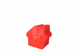Medium House Soap red rose