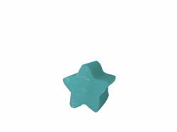 Star medium Soap cotton flower