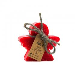Angel Christmas Soap with red rose