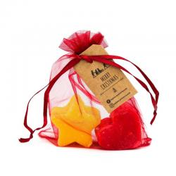 Organza Gift Bag with Christmas Soaps - Star + Heart