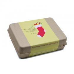 Christmas package 6 chalks + 1 Sandalwood fragrance + 4 handmade soaps