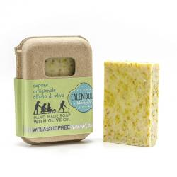 CALENDULA SOAP PACKAGING IN RECYCLED CARDBOARD 100 GR