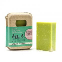 WHITE MUSK SOAP IN RECYCLED CARTON PACKAGING 100 gr