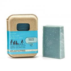 TALC SOAP IN RECYCLED CARTON PACKAGING 100 gr
